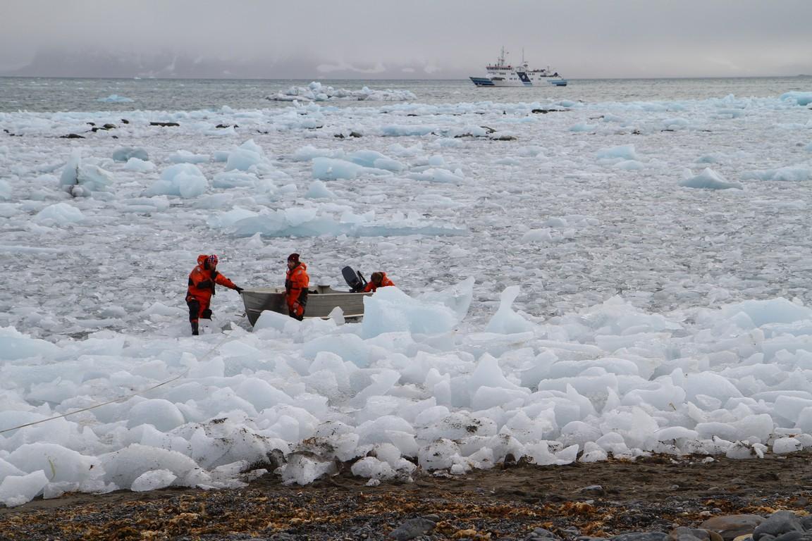 Przedzieranie się przez pole lodu