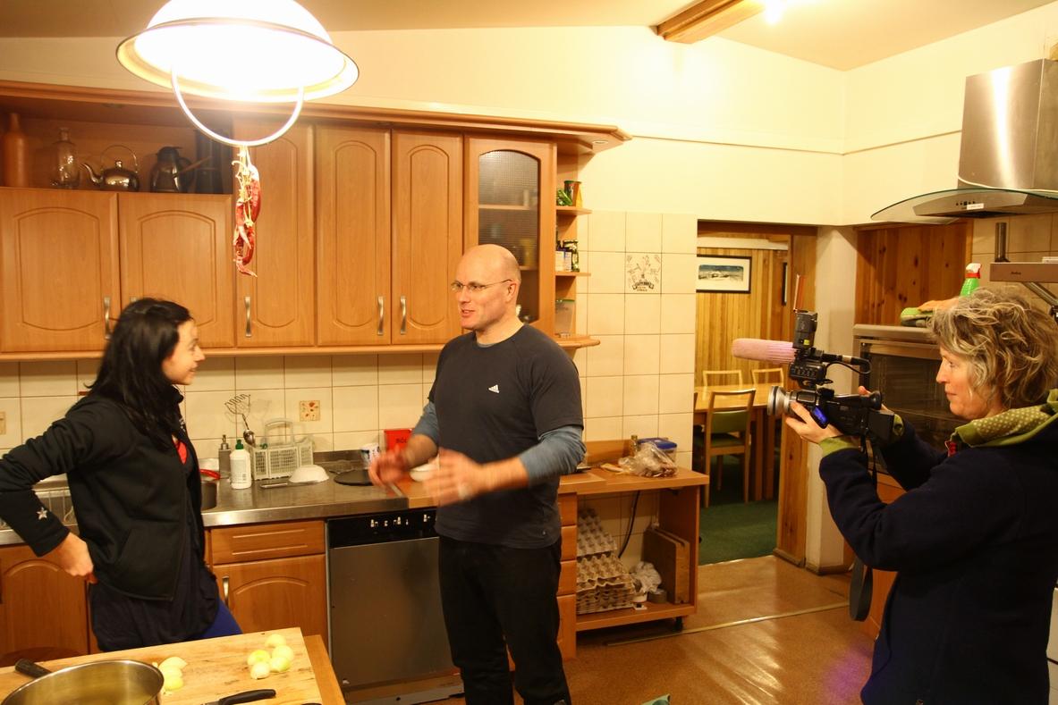 W kuchni z zastępcą Gubernatora Svalbardu