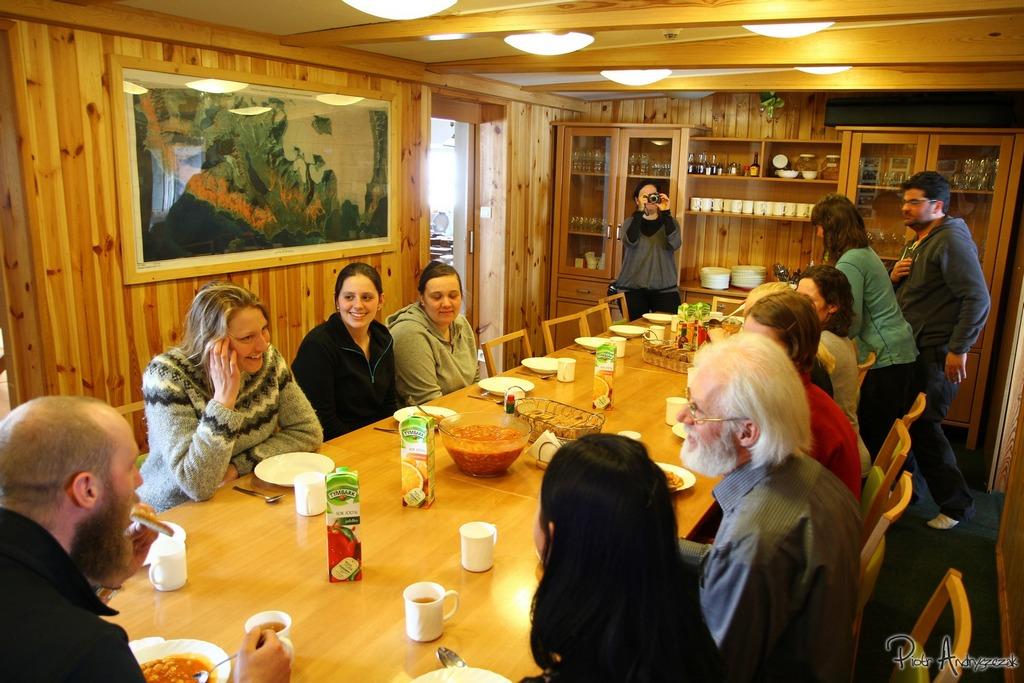 Wspólny obiad z gośćmi