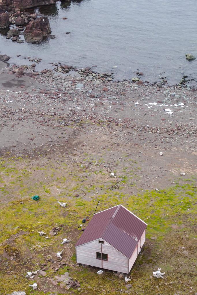 Widok na refugium w Rajskiej Zatoce