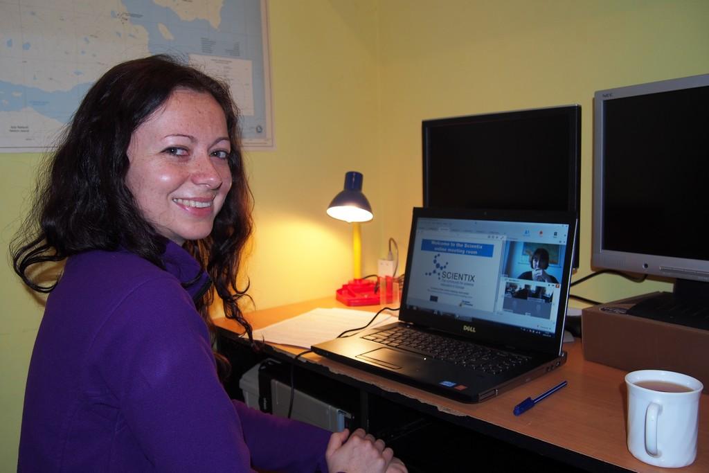 Joasia podczas lekcji o polskich naukowcach w Antarktyce